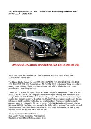 Calaméo - 1955-1969 Jaguar Saloons MK1/MK2 240/340 Owners Works on