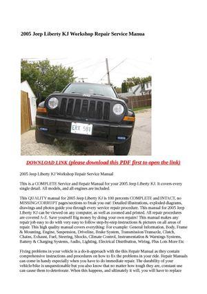 calam o 2005 jeep liberty kj workshop repair service manual rh calameo com 2005 jeep liberty owners manual 2005 jeep liberty owners manual