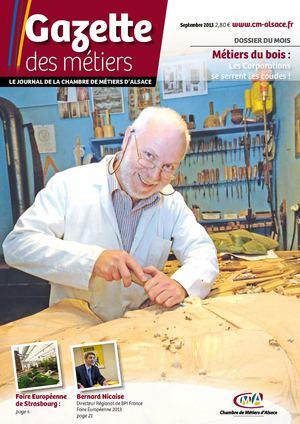 Calam o gazette des m tiers septembre 2013 - Chambre des metiers strasbourg ...