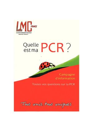 Quelle est ma PCR ? par LMC France
