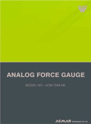 Analog Force Gauge