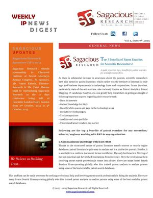 Sagacious Research Newsletter 7th Oct-2013