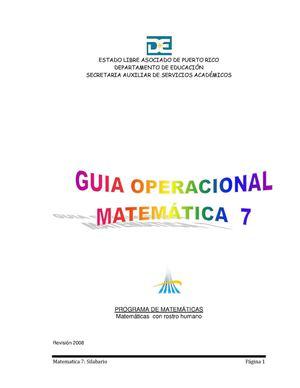 Calaméo - Silabario Matematica 7
