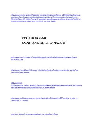article TWITTER 9 Octobre 2013