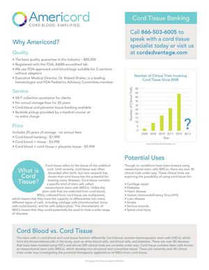 Cord Tissue Banking and Placenta Tissue Banking