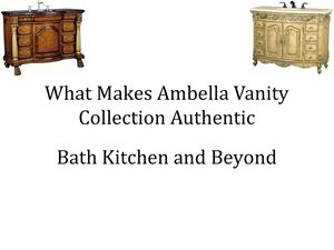 What Makes Ambella Vanity Collection Authentic