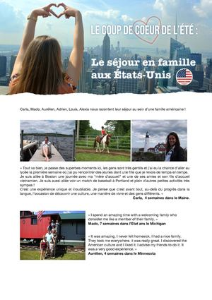 WEP France-Summer Family Experience USA-Témoignages 2013