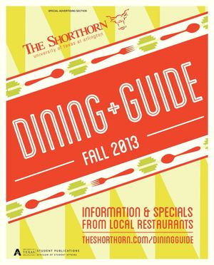 Shorthorn Fall 2013 Dining Guide
