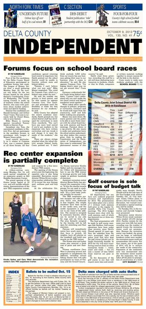 Delta County Independent, Oct. 9, 2013