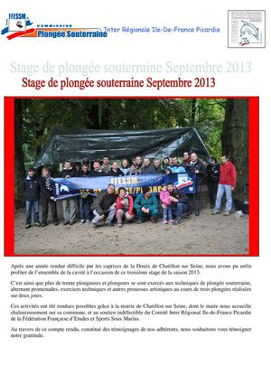 CR stage SEPTEMBRE 2013