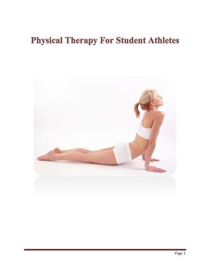 Physical Therapy For Student Athletes