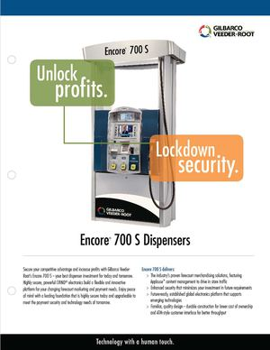 Encore 700 S Fuel Dispenser Brochure
