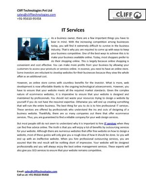 Find the Best IT Services for Your Website
