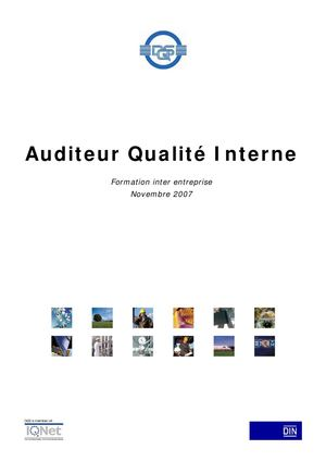 Audit qualité interne
