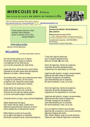 BOLETIN MIERCOLES DE POESIA N| 3 /2013