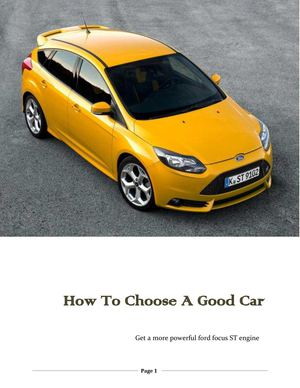 How To Choose A Good Car