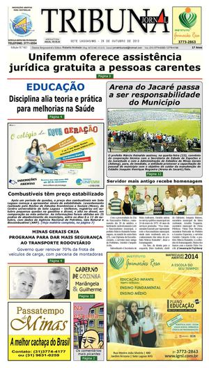 Calaméo - Jornal Tribuna de Sete Lagoas - edição 827 4e18526cb4