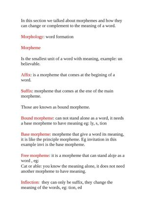 Calamo Types Of Morphemes