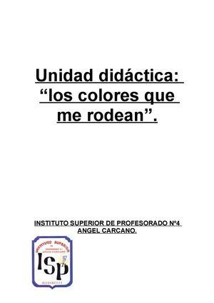 Calaméo - UNIDAD DIDÁCTICA: LOS COLORES.