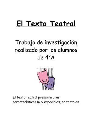 Calaméo El Texto Teatral