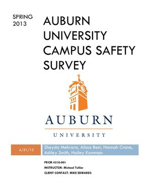 Auburn Public Safety Survey Report