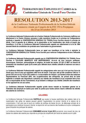RESOLUTION 2013-2015