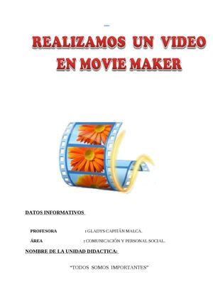 CREAMOS UN VIDEO EN MOVIE MAKER