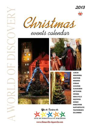Christmas events calender of the Ribeauvillé and Riquewihr region 2013