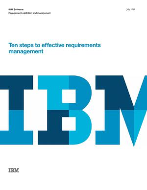Ten steps to effective requirements management