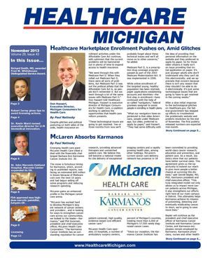 Healthcare Michigan November 2013
