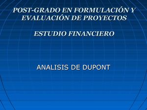 Estudio Financiero.