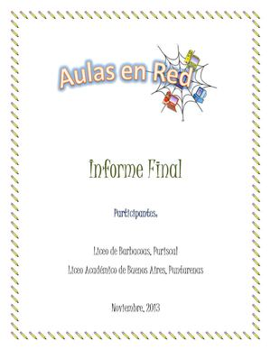 Informe Final Aulas en Red