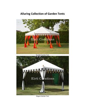 Alluring Collection of Garden Tents