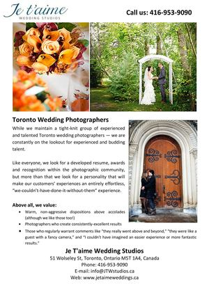 Je T'aime Wedding Studios - Wedding Photographers