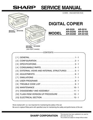 calam o service manual sharp ar 5516 5520 sme rh calameo com sharp ar 5520 operation manual sharp ar 5520 service manual pdf