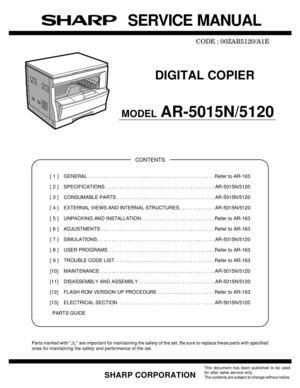 calam o service manual ar 5015n 5120 rh calameo com Sharps AR- 15 Sharp AR Code
