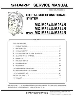 calam o service manual sharp mx m264n m314n m354n sme rh calameo com Sharp ManualsOnline Sharp Copy Machine
