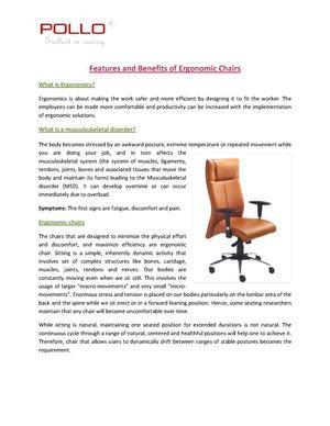 calaméo benefits of ergonomic chairs chennai