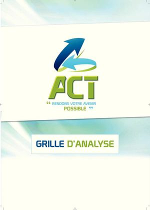 Version 2013 du bloc-grilles ACT