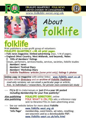 About Folklife, and Info-Page