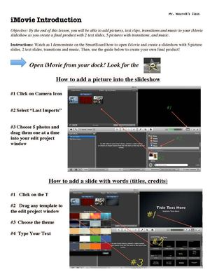 Calamo imovie instructional guide imovie instructional guide maxwellsz