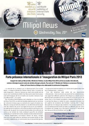 Daily News Milipol Paris 2013 #2