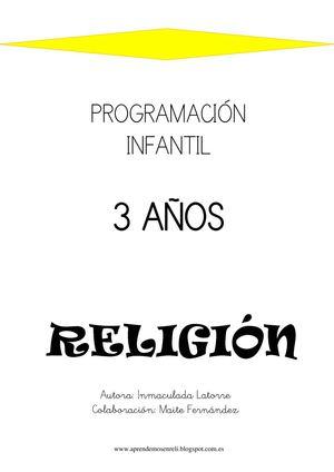Calameo Programacion Infantil Religion 3 Anos
