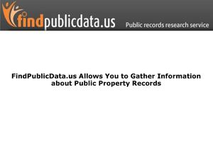 FindPublicData.us Allows You to Gather Information about Public Property Records