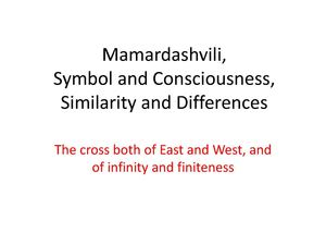 Mamardashvili, Symbol and Consciousness, Similarity and Differences