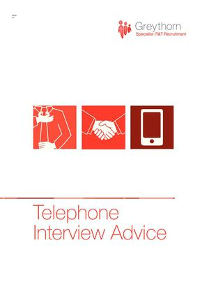 Telephone Interview Advice by Greythorn UK