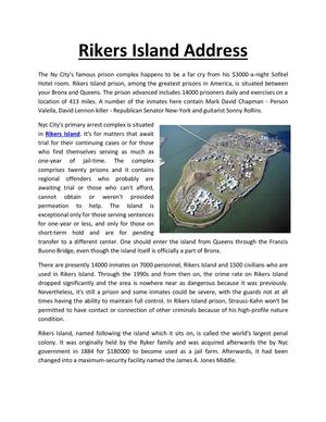 rikers island address