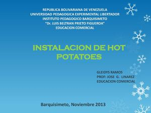INSTALACIÓN DE HOT POTATOES