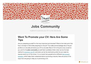 Want To Promote your CV: Here Are Some Tips