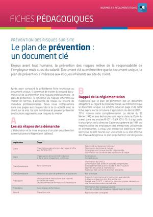 FICHE TECHNIQUE - LE PLAN DE PREVENTION